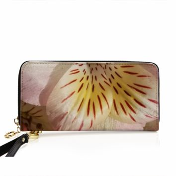 Women's PU Leather Wallet around Long Clutch Purse