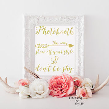 Photobooth Signage Wedding Photobooth sign Gold wedding signs Photo Booth props Printable Wedding signs wedding signage INSTANT DOWNLOAD
