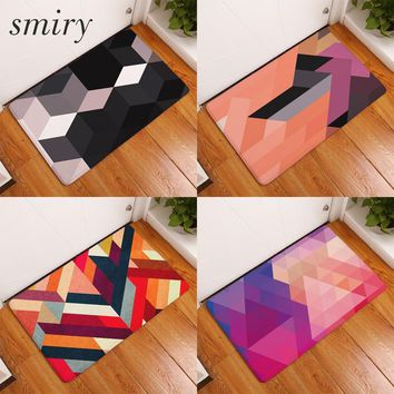 Autumn Fall welcome door mat doormat Smiry 40*60cm waterproof decorative stair mats colorful puzzle geometric pattern carpets anti slip living room entrance  AT_76_7