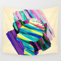 Africa Dream Woman Peace Rainbow Wall Tapestry by Pepe Psyche