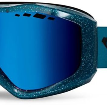Roxy Sunset Goggles - true black garden party/amber rose ml blue lens - Free Shipping