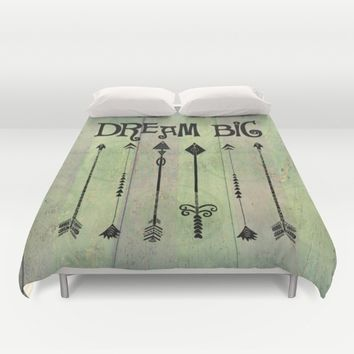 Boho Dream Big Quote Duvet Cover by Quote Life Shop