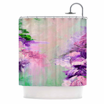 "Ebi Emporium ""Winter Dreamland 4"" Pink Purple Shower Curtain"