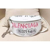 Balenciaga Fashion simple letter doodle zipper waist bag chest bag shoulder bag