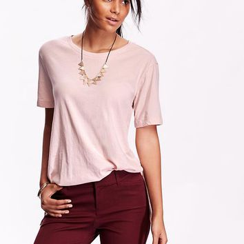 Old Navy Womens Short Sleeve Tunic Tees