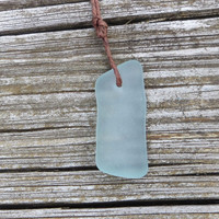 Aqua Sea Glass Surfer Necklace Beach Summer Style