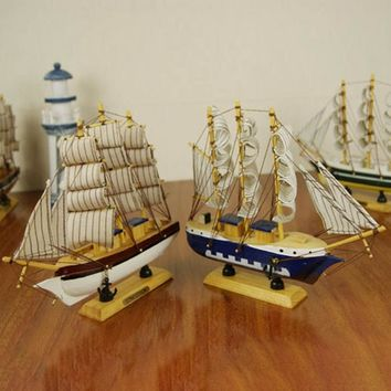 Multi styles wood boat sailing ship nautical ornaments gift home crafts ship model home sailing model office decorations