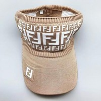 Fendi New fashion more letter hollow couple cap hat Khaki