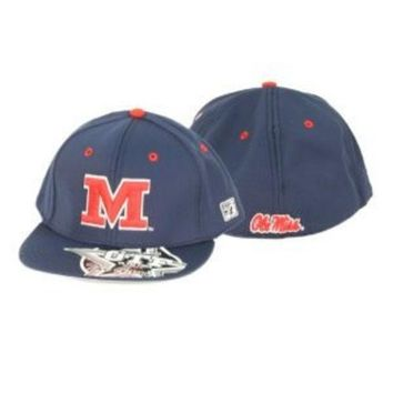 ESBON NCAA Ole Miss Rebels The Game Blue Hat With Red Block M