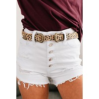 That's Wild Cheetah Print Double Buckle Belt (Natural)