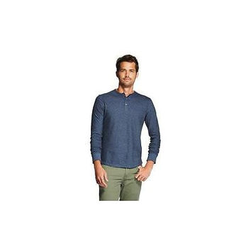Men's Long Sleeve Henley T-Shirt, X-Large, Xavier Navy Merona