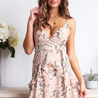 Fly With Me Dress -Nude Floral - Stelly