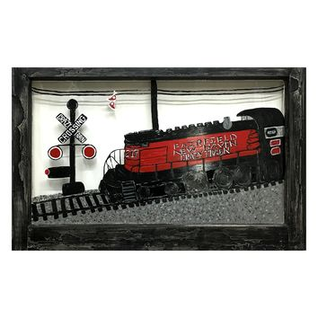 Crazy Train - Vintage Painted Window Wall Decor 31-7/8-in