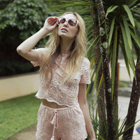 Arabella Lace Shorts Blush