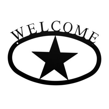 Wrought Iron Star Welcome Home Sign Small
