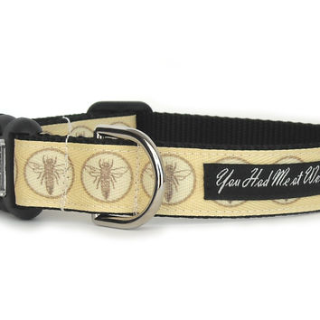 French Bees Dog Collar