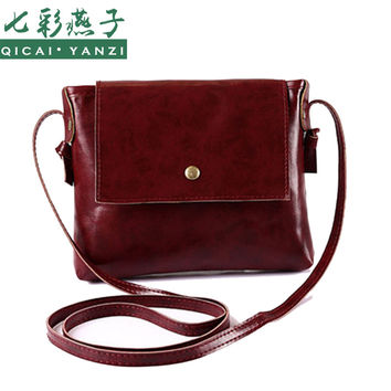 2016 New Fashion Women Lady PU Leather Bag Retro Square Bags Messenger Casual Shoulder Bag High Quality P341 Free Shipping