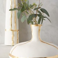 Fused Gold Vase by Anthropologie in Ivory Size: