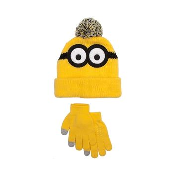 Minions Beanie and Glove Set