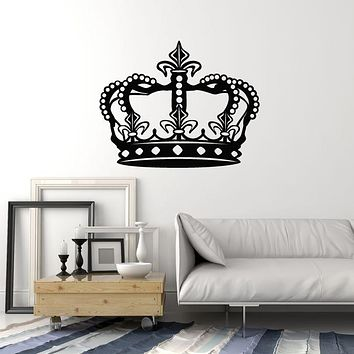 Vinyl Wall Decal Royal Crown King Queen Emperor Stickers Mural (g583)