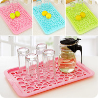 Plastic Two Layer Draining Board Tea-Tray For Kitchen Racks Holders