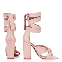 ROSA Knotted High Sandals - Topshop
