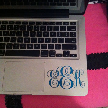 Personalized Monogram MacBook Vinyl Decal