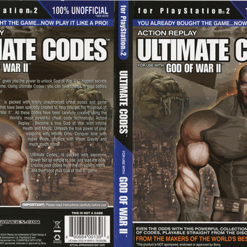 Action Replay Ultimate Codes - God of War II - PlayStation 2 (Very Good)