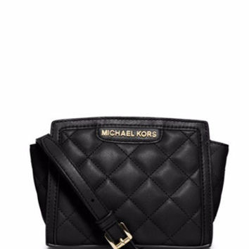 Michael Michael Kors Selma Quilted Leather Mini Messenger