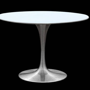 Silverado Round Dining Table molded fiberglass / cast aluminum 42""