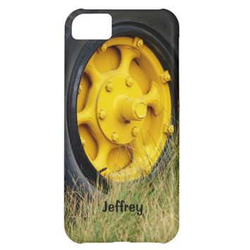 iPhone 5c Case, Yellow Wheel, Personalized iPhone 5C Case
