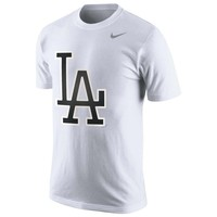 L.A. Dodgers Nike Vapor Performance T-Shirt with Reflective Logo – White