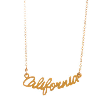 California Script Necklaces