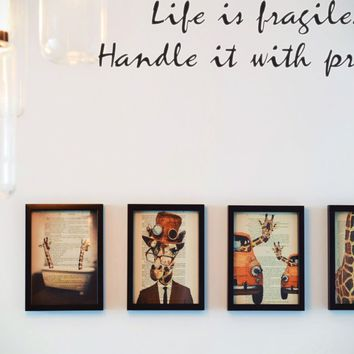Life is fragile. Handle it with prayer Style 26 Vinyl Decal Sticker Removable