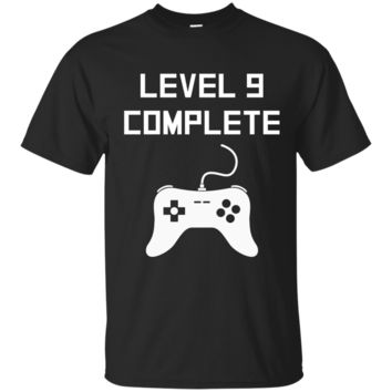 Kids Level 9 Complete Funny Video Games 9th Birthday T-Shirt