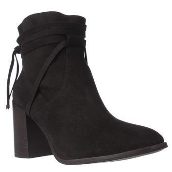 Steve Madden Percy Block Heel Ankle Boots, Black, 8 US