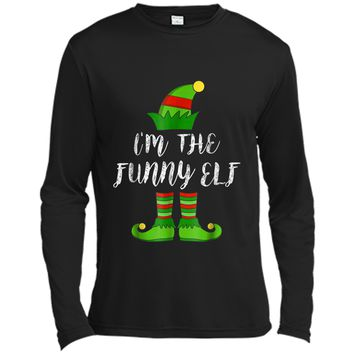 I'm The Funny Elf Matching Family Christmas Party Long Sleeve Moisture Absorbing Shirt