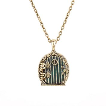 The Hobbit Fairy Door Necklace Magic Pendant Lord of the Rings Necklace