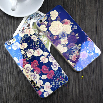 Shining Floral Rubber Case for iPhone 5s 6 6s Plus Gift-84