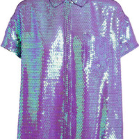 ACNE Rogue Sequin Embellished Shirt