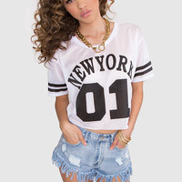 New York Babe Crop Jersey