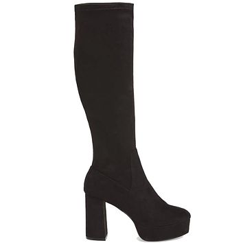 2511a2edea7 Chinese Laundry Nancy - Black Suede Tall Platform Boot