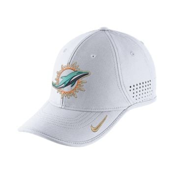 Nike True Vapor (NFL Dolphins) Adjustable Hat (White)