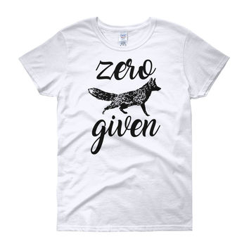 Zero Fox Given t-shirt - FREE SHIPPING