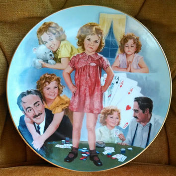 """Vintage 1984 Shirley Temple """"Little Miss Marker"""" Limited Edition Collectible Plate-  The Shirley Temple Classics"""