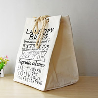 European Style Laundry Bags Washing Cleaning Bag with Handles Home Storage Bags Laundry Basket Tor Toys 1PC 50cmx38cmx32cm
