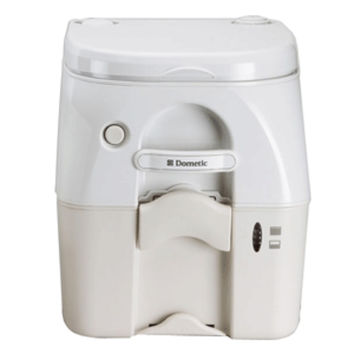 Dometic - SeaLand 975MSD Portable Toilet 5.0 Gallon - Tan w/ Brackets