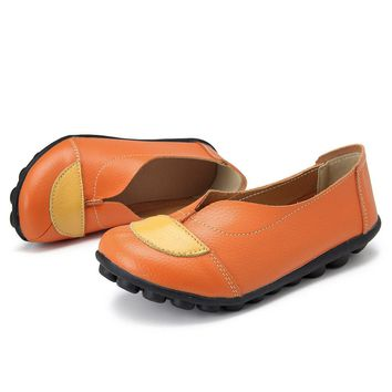 Leather Flat Soft Casual Loafers