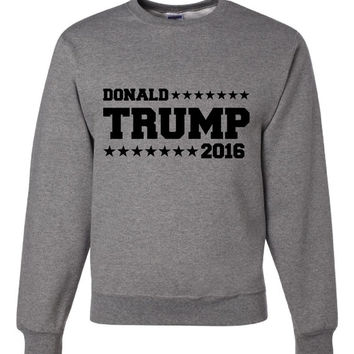 Donald Trump 2016 Crewneck Sweatshirt Support your Party Trump 2016 Sweatshirt