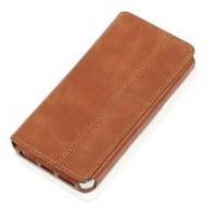 "KAVAJ leather case cover ""Dallas"" for the Apple iPhone 5S, iPhone 5 cognac brown - genuine leather with business card compartment"